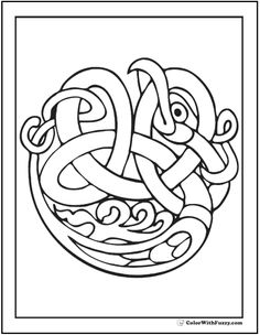 ColorWithFuzzy.com Celtic Coloring Pages: Easy Celtic Bird Coloring Pages