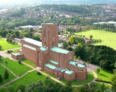 Beautiful Aerial shot of Guildford Cathedral. I have sung in an opera here as a 12-13 year old.