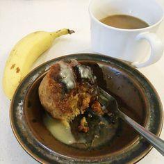 Conference breakfast bread pudding  whiskey hard sauce espresso & banana @libertybarsa #dessertforbreakfast #sanantonio #foodieporn