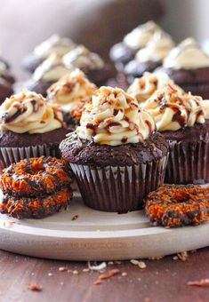 Girl Scout season is upon us. Check out these Samoa Cupcakes!