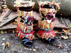 Spats, boot cuffs, steampunk,  gypsy ,woodland faery, mori girl,shoe accessories,dance,tribal fusion,airship,roses,russian,silk,halloween