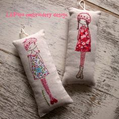 lavender girl embroidery pattern PDF