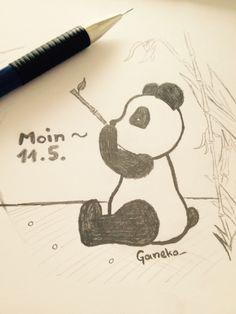 Moin Leute ^-^ ich wünsche euch einen schönen Tag! #Moin #draw #Panda #youtube
