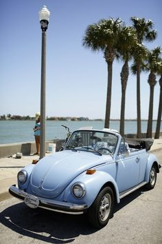 #VW convertible #bug in powder blue