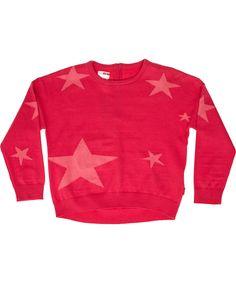 Name It roze fashion sweater met hippe lichtroze sterren. name-it.nl.emilea.be