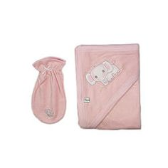 Pink Towel and Washcloth with Elephant Pink Towels, Beautiful Babies, Baby Shoes, Elephant, Clothing, Cotton, Kids, Small Bouquet, Outfits