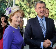 own Princess Margarita of Romania and her husband Prince Radu marked he anniversary of the establishment of their country's first news agency with a celebration at Elisabeta Palace. Cocktail Hat, News Agency, First Daughter, Crown Royal, Kaiser, Queen Bees, Purple Dress, People Like, The Past
