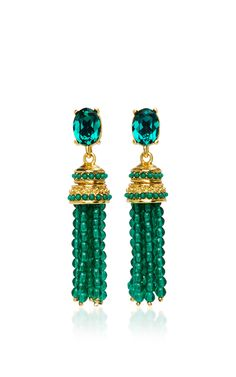 Bejeweled Tassel C Earring by OSCAR DE LA RENTA Now Available on Moda Operandi