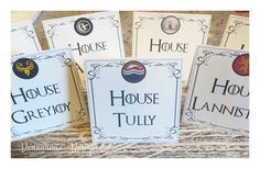 Game of thrones themed table cards Deannamic Designs