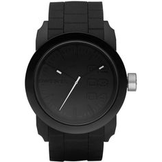 Diesel® Silicone Strap Round Watch ($100) ❤ liked on Polyvore