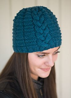 Braided Beanie, knitting pattern by Underground Crafter, in Love of Knitting Holiday Knits 2014