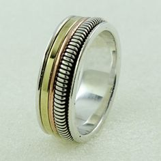 BEAUTIFUL DESIGN 925 STERLING SILVER SPINNER RING _ SILVEX IMAGES #SilvexImagesIndia #Spinner