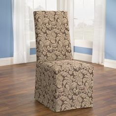 Scroll Classic Fit Dining Chair Slipcover Fabric Brown * Click on the image for additional details. (This is an affiliate link and I receive a commission for the sales)