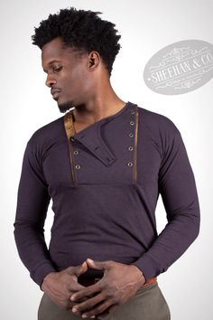Sheehan & Co. Henleys, Long Sleeve Henley, Henley Shirts, Vintage Colors, Mens Fashion, Fashion Trends, Vintage Inspired, Fabrics, Navy