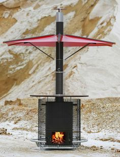 The outdoor oven from Jackreativ Manufaktur ⋆ Live Dear Fesch The outdoor stove from Jackreativ Manufaktur – lelife. Outdoor Stove, Indoor Outdoor, Outdoor Decor, Metal Projects, Welding Projects, Fire Pit Gallery, Barbecue, Fire Pit Grill, Modern Fireplace