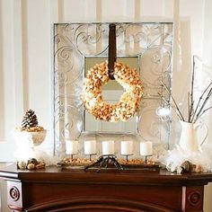everyday mantle idea adapt for me for the home pinterest mantle ideas mantle and mantels - Decor For Mantels