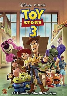 In this installment of the Pixar animated franchise, toy cowboy Woody (voiced by Tom Hanks), his astronaut pal, Buzz Lightyear (Tim Allen), and their friends cope with their owner's departure for college -- and their new home in a day-care center.