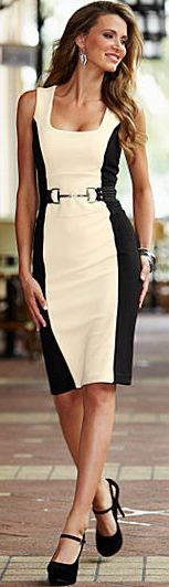 Venus Color Block Sheath Dress ♥ A cheap dress that looks great for the corporate woman | Currently on sale...should I get it ???
