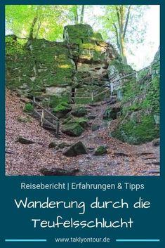 Eine #Wanderung durch die #Teufelsschlucht in der #Eifel ist ein spannendes #Erlebnis. Erlebe die #Südeifel auf besonderem Wege! Reisen In Europa, Travel Inspiration, German, Outdoor, European Travel, Deutsch, Outdoors, German Language, Outdoor Games