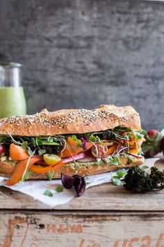 California Veggie Sandwich with Green Goddess Dressing | 23 Healthy And Delicious Sandwiches To Bring For Lunch