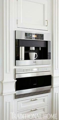 Sleek Built-in Coffe and Espresso maker