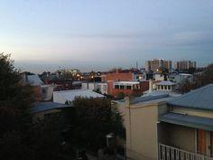 dusky suburban view