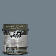 BEHR Premium Plus Ultra 1-gal. #PPU13-4 Atlantic Shoreline Semi-Gloss Enamel Interior Paint - 375401 at The Home Depot