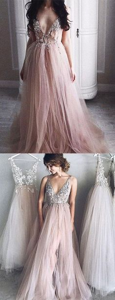 Chic Prom Dresses, Spaghetti Straps Prom Dresses,A Line Floor-length Long Tulle Sexy Prom Dress Flowy Prom Dresses, Classy Prom Dresses, Gorgeous Prom Dresses, Junior Prom Dresses, Straps Prom Dresses, Simple Prom Dress, Prom Dresses For Teens, Unique Prom Dresses, Prom Dresses 2018