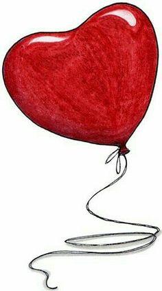 Feb 14 ❤️ Happy Feast Day of St Valentine ❤️ Its a beautiful day. I Love Heart, Happy Heart, Valentine Heart, Happy Valentines Day, Heart Balloons, Heart Art, Belle Photo, Heart Shapes, Decoupage