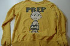 Vintage Women's Peanuts Snoopy Prep School Charlie Brown Sweatshirt Medium M | eBay