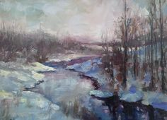 Landscape Painting - Slippery When Wet by Michael Pintar