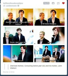 Sherlock Holmes, Consulting Twelve Year Old, and His Mother, John Watson