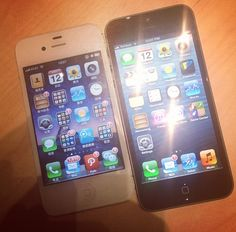 A Side-By-Side Comparison Of The iPhone 5 And iPhone 4S