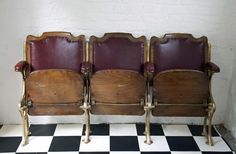 Antique Leather Cinema Seats