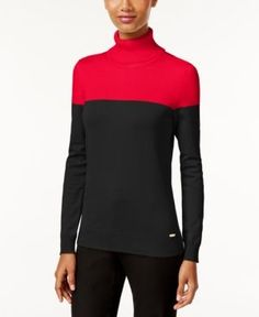 Calvin Klein Colorblocked Turtleneck Sweater -