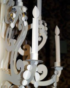 Jefferey Rudell's step by step process to make a paper chandelier