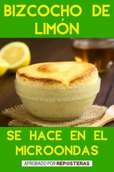 Lemon Recipes, Low Carb Recipes, Sweet Recipes, Cooking Recipes, Microwave Cake, Microwave Recipes, Batch Cooking, Sin Gluten, Bread Baking