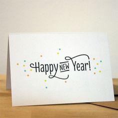 Happy New Year - Neujahrskarte