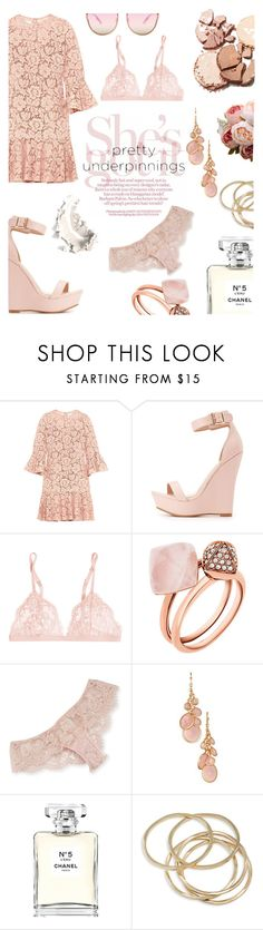 """Pretty underpinnings"" by feiartus ❤ liked on Polyvore featuring Valentino, Charlotte Russe, La Perla, Michael Kors, I.D. SARRIERI, Avon, Chanel, ABS by Allen Schwartz and prettyunderpinnings"