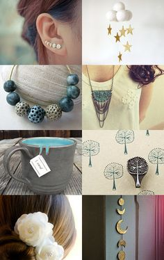Moon phases by Marylène Chauveau on Etsy--Pinned with TreasuryPin.com