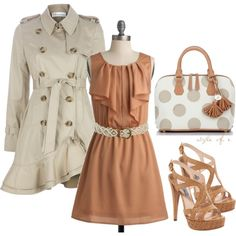 Polka Dots and Ruffles, created by styleofe on Polyvore