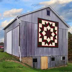 Quilt Barn Magnet with Carpenters Wheel pattern