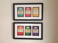 Pair of Penguin Book Cover triptychs framed by TheStylishPenguin & 10 People Who Love Penguin Books Covers... Like A Lot | Penguin ...
