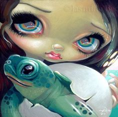 Faces of Faery #164: Baby Turtle - Jasmine Becket-Griffith.
