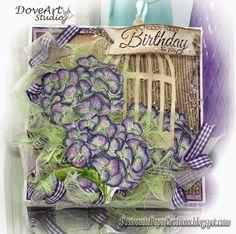 Rhea Weigand: Passionate Paper Creations – NEW - Dove Art Studio Stamps at C.C. Designs - 9/20/14 (Dove Art - Hydrangeas)