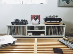 What do you put your turntable on? : vinyl