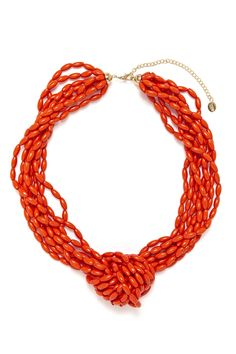 Beaded Knot Necklace in Orange from Equip (AUD $18.99).