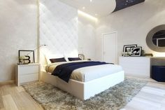 Modern Small Bedroom classic white walls