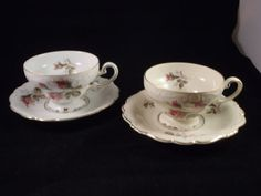 SALE Reduced from 50.00 19401950s Set of 2 Tea Cup by GiftsByJo, $40.00