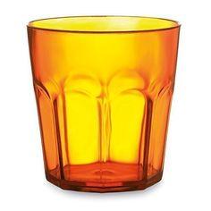 400ml Coloured Plastic Tumbler For Juice and Cold Drinks (Transparent Orange)